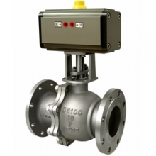 Pneumatic metal seated steel ball valve