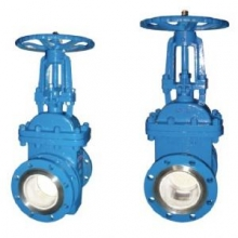 Wear-resisting ceramic slag discharge gate valve
